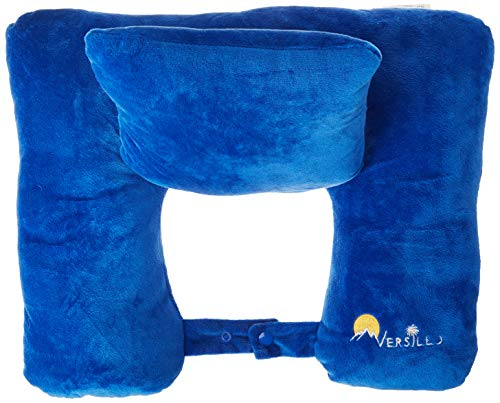 Versillo Travel Pillow. The Pillow for Everything. More Than Just a Neck Pillow. Neck, Lumbar, Back Support. The Pillow That Solves All Your Travel Needs for Cars, Airplanes, Car Seats, Home, Work.